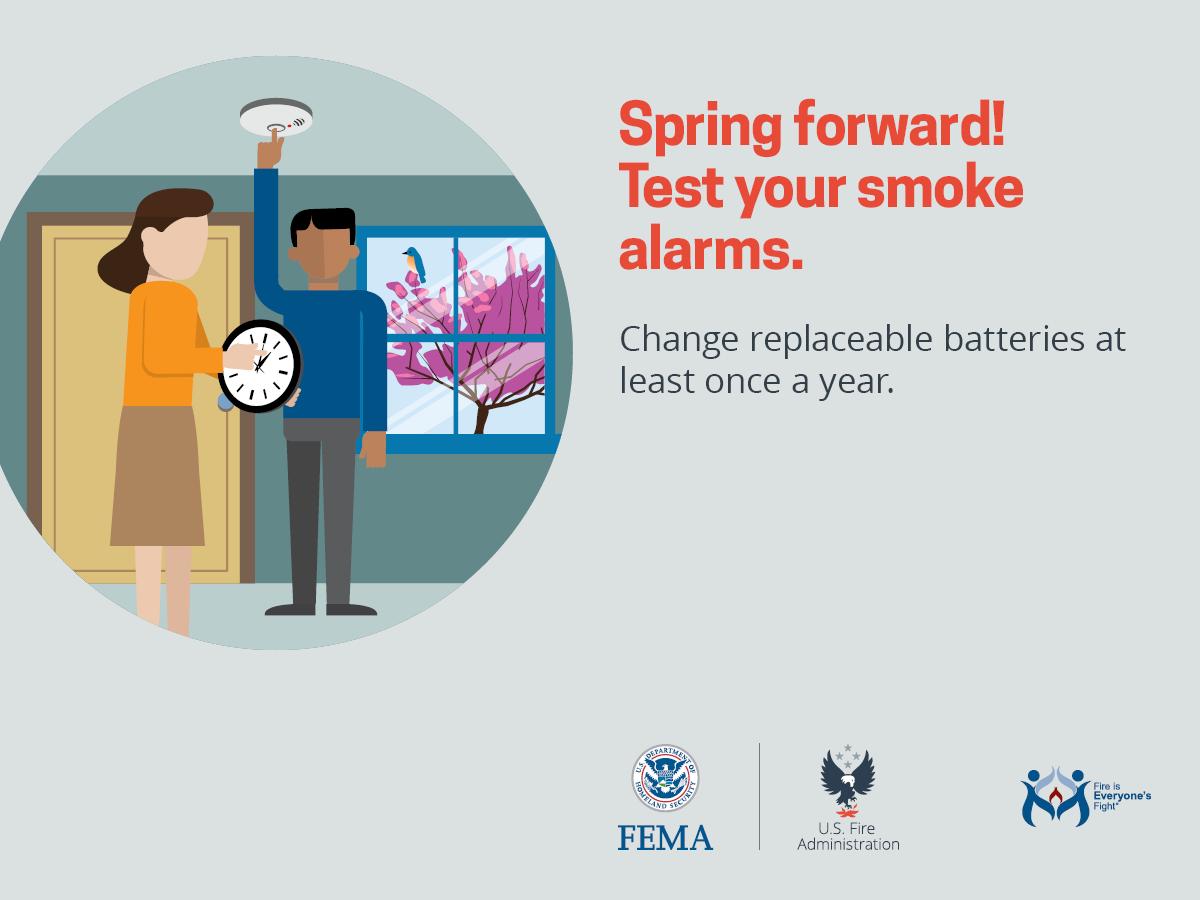 Spring Forward! Test Your Smoke Alarms